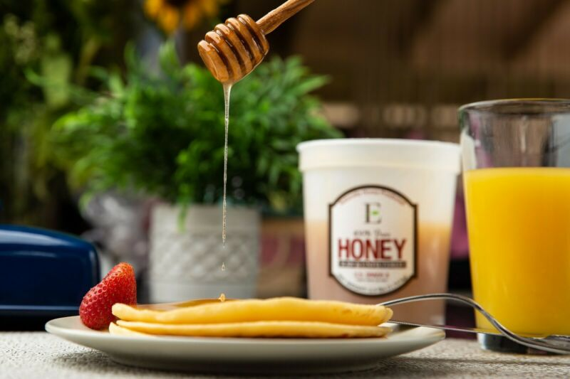 100% Pure Honey from Utah - Very Delicious Taste! Unheated, Raw Honey - 5 lbs