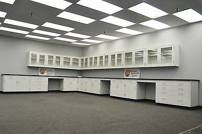 Used, Laboratory 35' Base 30' Wall Furniture / Cabinets / Case Work / Fast Ship-E1-088 for sale  Rockford