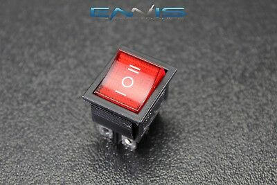 Rocker Switch Red Dpdt On Off On 15 Amp 250 V 20 Amp 125 V 6 Pin Ec-623