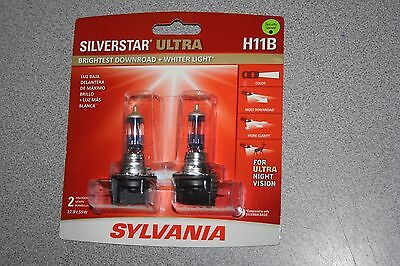 Sylvania Silverstar ULTRA H11B Pair Set High Performance Headlight 2 Bulbs NEW