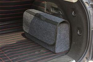Vinsani Grey Large Anti Slip Car Trunk Boot Storage Organiser Case Tool Bag