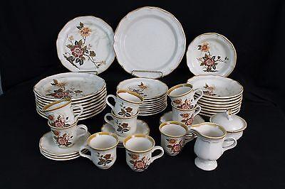 Mikasa Garden Club Imperial Garden 50 Piece  Dinnerware  Set With Serveware