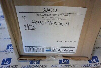 New Appleton Aja510 1-12 Aluminum Powertite Mounting Boxes
