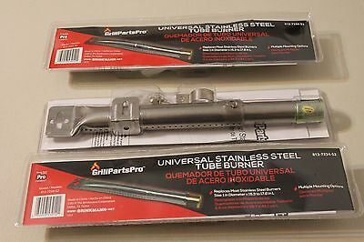 NEW BRINKMANN LOT OF 3 UNIVERSAL STAINLESS STEEL TUBE BURNER GRILL 812-7234-S