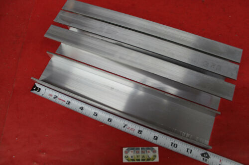 """4 Pieces 2-1/4"""" x 1"""" x 1/8"""" Wall 6061 T6 ALUMINUM CHANNEL 12"""" long Mill Stock"""