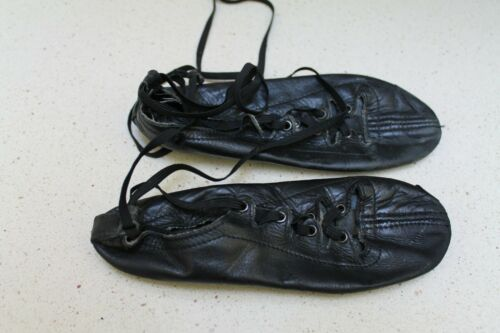 "Ghillies 7.5"" Irish Highland Black Dance Soft Shoes"