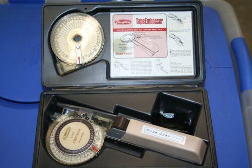 Vintage Dayton Tape Embossing Kit Label Maker 4x857 Works with TAPE ROLLS