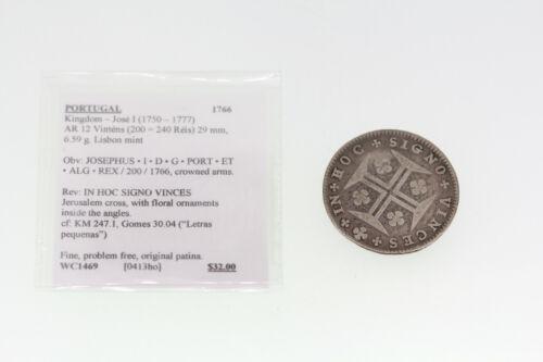 1766 Portugal 200 Reis Coin