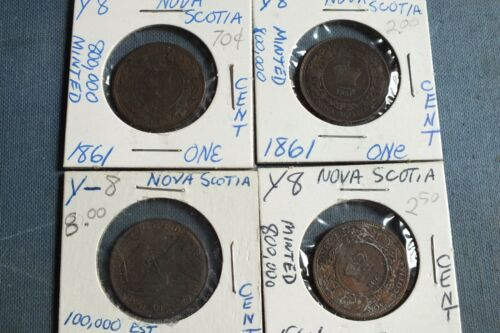 Lot of 4 Nova Scotia Coins from the 1860