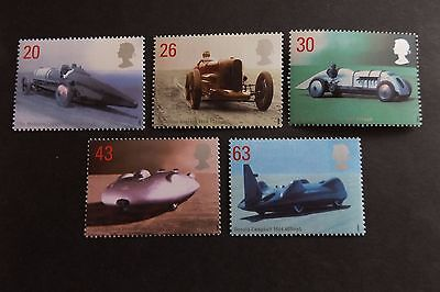 GB MNH STAMP SET 1998 British Land Speed Records SG 2059-2063 10% OFF 5+