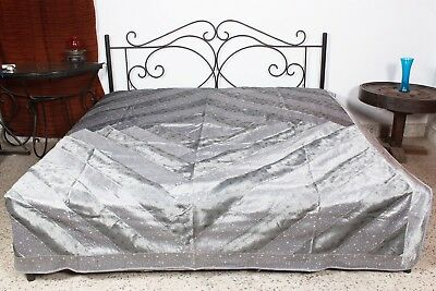 Bedroom Bedding Rayon Bedspread 230 X 265 CM Bed Coating Grey Fitted Sheet