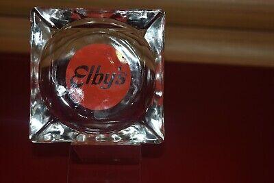 VINTAGE ELBYS BIG BOY RESTAURANT GLASS ASHTRAY ADVERTISING