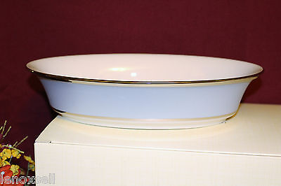Lenox Blue Frost Open Vegetable Bowl NEW in Box USA 1stQ 1550132 - Blue Open Vegetable Bowl