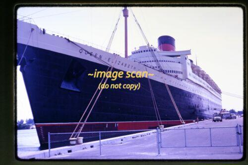 1969 RMS Queen Elizabeth Passenger Ship, Cunard Line, Original Slide c15a