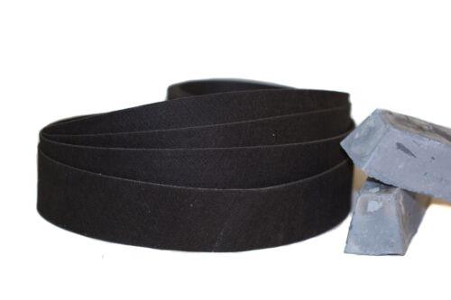 """2""""x 72"""" Sanding Belt Black Felt Polishing Belt 2 Pack"""