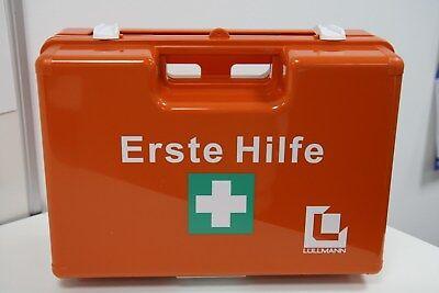Betriebs Verbandkoffer Erste Hilfe Koffer DIN 13157 Verbandkasten orange 620139D