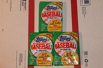 1990 Topps Baseball Packs!! Vintage unopened Lot.