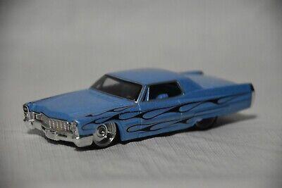 """Hot Wheels 1/50 G Machines '68 Cadillac, Blue, Chrome Wheels, 4"""" Die-Cast Car"""