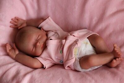 "REBORN BABY DOLL PREEMIE 15"" PREMATURE FAITH, ARTIST 9yrs MARIE (outfit may vary tweedehands  verschepen naar Netherlands"