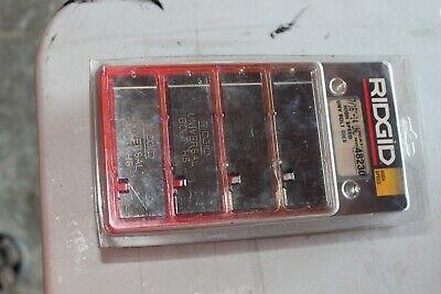 4 Ridgid 48230 716-inch Universal High Speed Bolt Dies For Pipe Threader Cutter