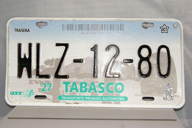 TABASCO (Mexico) License Plate US Seller