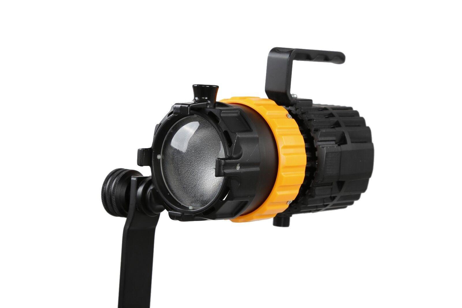 Details about FalconEyes P-5TD Mini Spot LED Fresnel 100W 3000K-5600K with  Light Modifiers Kit