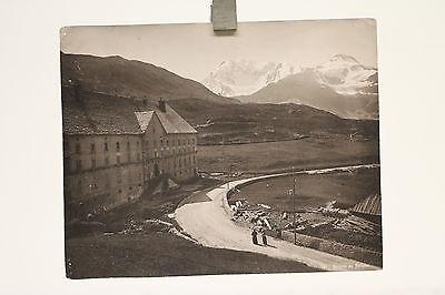 altes Foto Hospice du Simplon   Schweiz um 1900