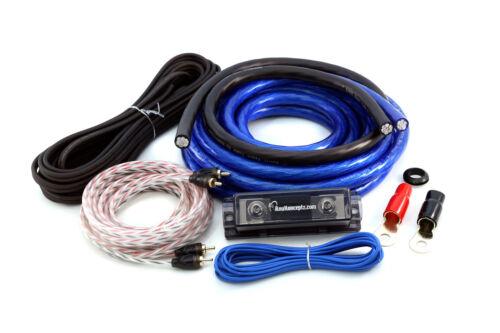 KnuKonceptz Bassik 0 Gauge Amplifier Installation Wiring Amp Kit CCA 1/0 AWG