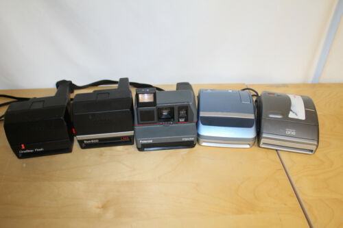 Lot of 5 600 film Polaroid Cameras ~ TESTED and WORKING