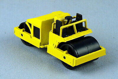 VINTAGE HOT WHEELS 1986 CAT ROAD ROLLER YELLOW MALAYSIA WORKHORSES