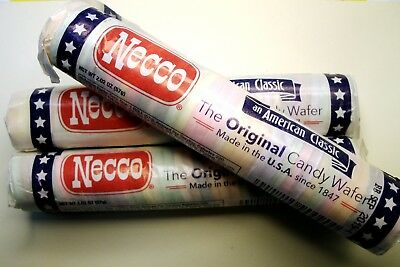 BUY! Necco Assorted Original Candy: *(3) Rolls ONLY*>36-Wafers per Roll=6.06 ozs](Buy Candy)