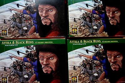 4 x Attila & Black Huns - Hunnen 48 Reiter - Lucky Toys 1:72 Figuren Sammlung