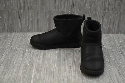 UGG Classic Mini Waterproof Leather 1019641 Winter Boots, Women's Size 11, Black