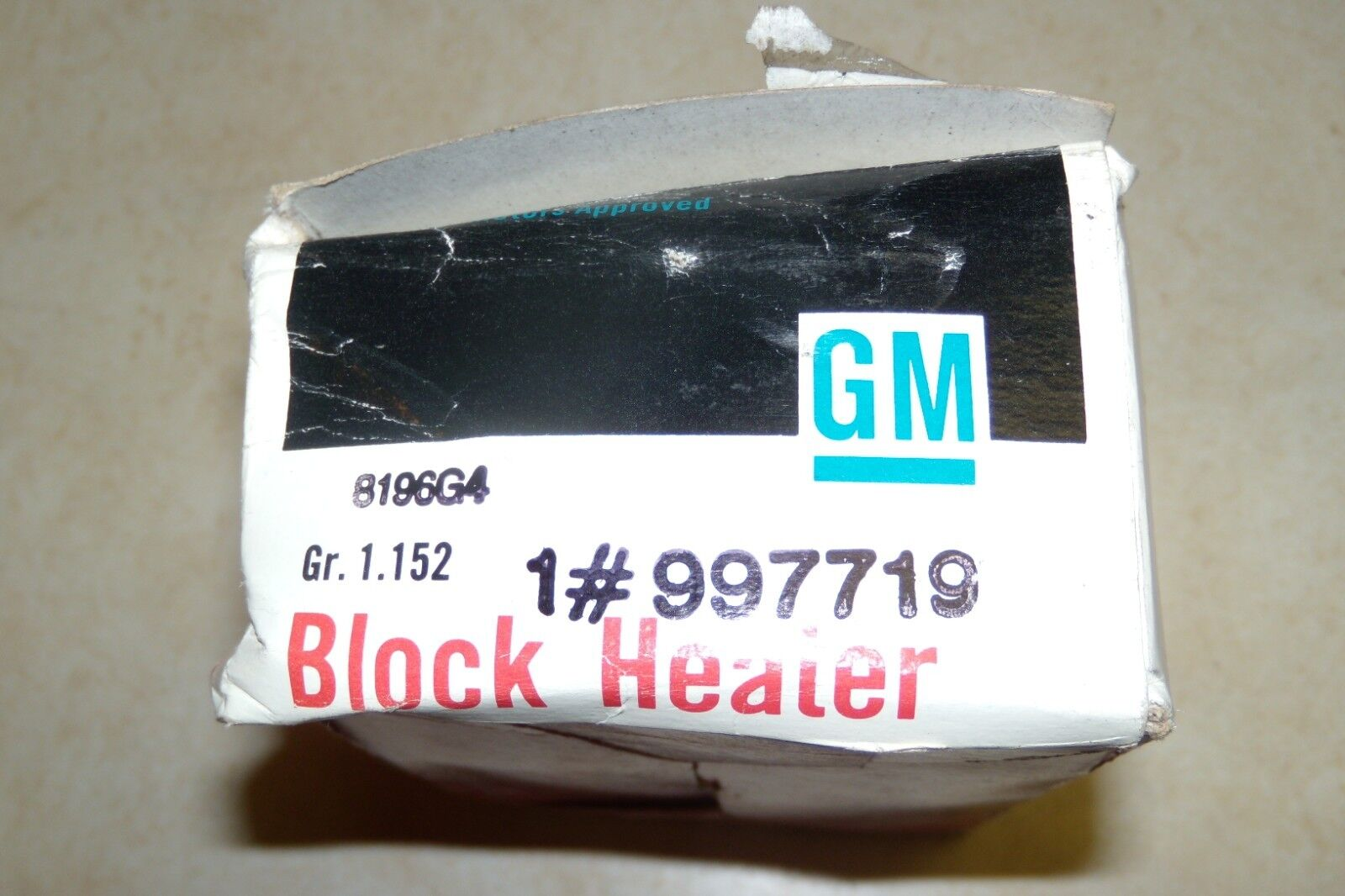 NOS GM Chevrolet Buick Olds Pontiac Cadillac Accessory Engine Block Heater