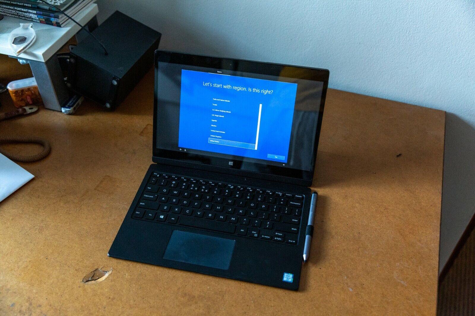 Laptop Windows - Dell Latitude 7275 12.5 inch Windows 10 Netbook Tablet Laptop