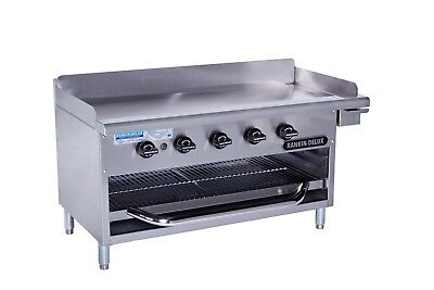 Rankin-delux Gb-48-c Commercial Gas Griddle Over-fired Broiler