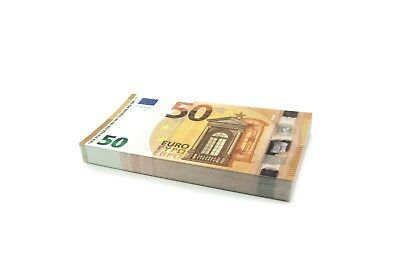 Cashbricks® Spielgeld €50 Euro Scheine (75% Größe)