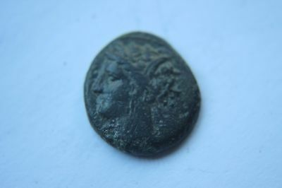 ANCIENT GREEK CARTHAGE PUNIC COIN 2nd CENTURY BC HORSE