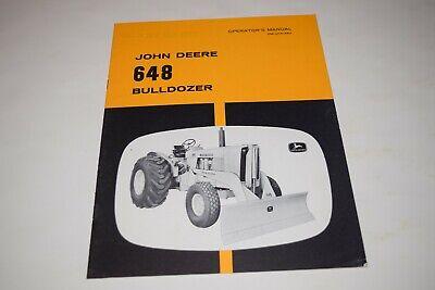 John Deere 648 Bulldozer For Tractor Operators Manual