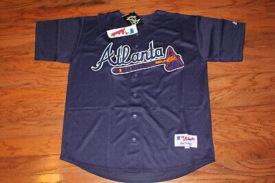 Atlanta Braves Alternate Navy Jersey w/Tags  Size 48 (Adult)