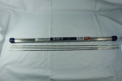 3 Rods Lucas Milhaupt Sil-fos15 Silver Brazing Rod, 15% Silver, HVAC Type