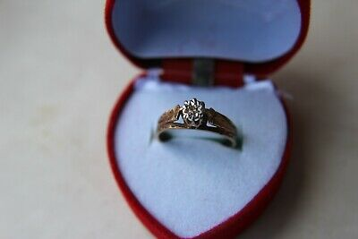 9ct gold solitaire diamond ring fully hallmarked