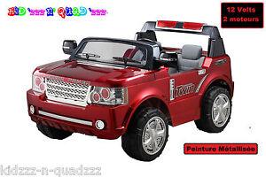 e403ecff4949b 4x4 Jeep Voiture électrique Enfant - 2 TrÈs Grandes Places Xl - Rouge  Métallisé