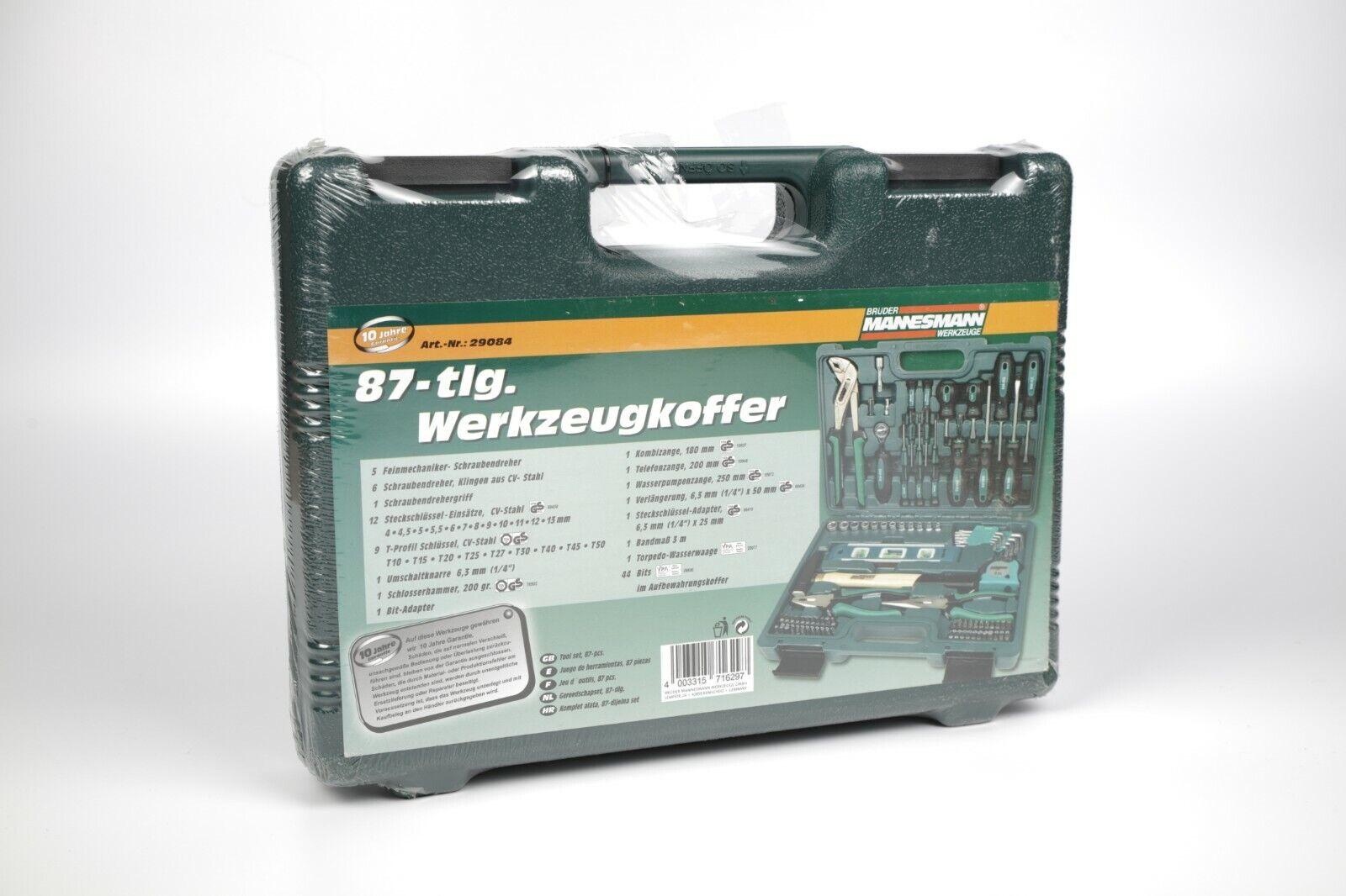 86 tlg. Werkzeug-Set Werkzeugkoffer Werkzeugkasten Werkstatt Mannesmann