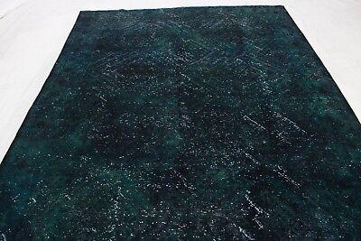 Vintage Orient Teppich dekorativ modern 340x250 Grün handgeknüpft 3019 - Dekorative Teppiche Moderne Teppiche