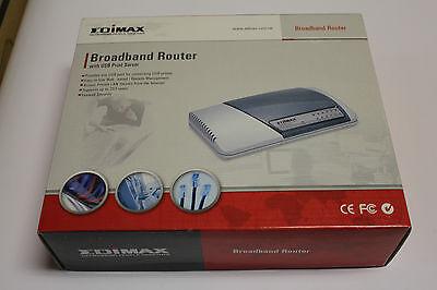 *New* Edimax BR-6104KP Broadband Router with 2X USB Print Server
