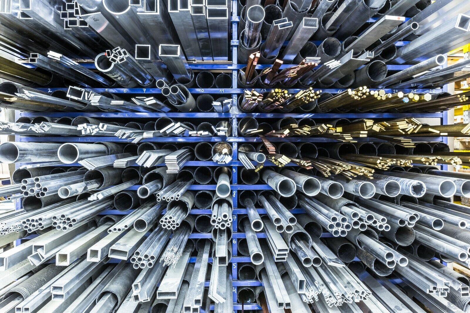 Kunststoff Flach - Vierkant - Stange - POM , PVC , PA6 - weiß - schwarz - grau