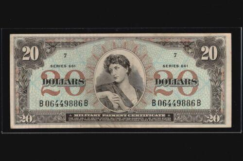 1968 - 1969 Series 661 MPC $20 Military Payment Certificate Twenty Dollars