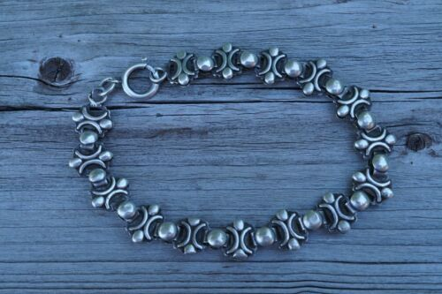 ANTIQUE FRENCH VICTORIAN SOLID SILVER  BRACELET #93