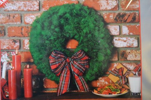 Vintage Macrame wreath kit Quick-Mac ugly Xmas party decor unused white fuzzy